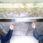 鉄道高架下人道トンネル 雨樋(あまどい)取付(瑞浪)