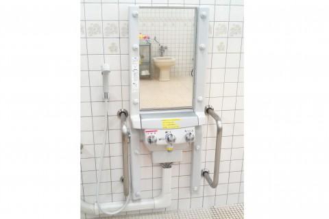 介護施設 シャワー台 ガードパイプ