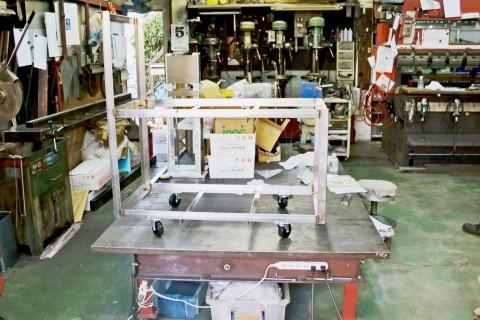 業務用水槽ポンプ架台