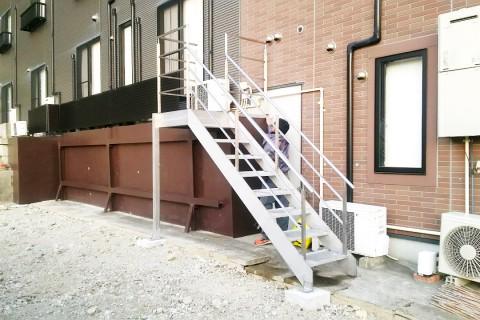 ステンレス製手すり・階段