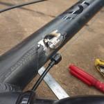 自転車 ワイヤーブラケット取付