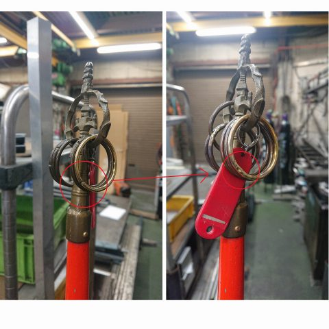 錫杖 真鍮輪っか溶接 - 愛知県名古屋市で金属加工の有限会社ニーズ工業製作